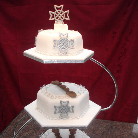 Lovespoon Wedding Cake