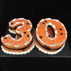 30th  Numbered Birthday cake #1
