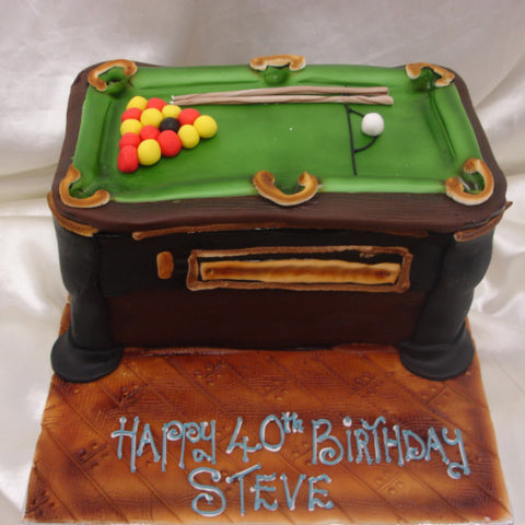 Pool Birthday Cake