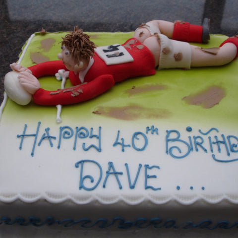 Rugby Player Birthday Cake - UK DELIVERY