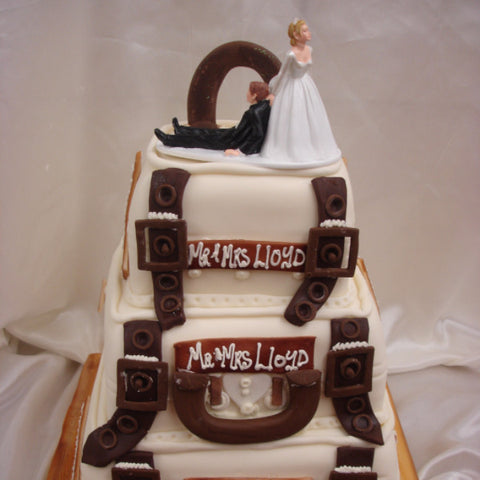 3 Tier Suitcase  Wedding Cake