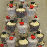 Tower Of Wedding Cupcakes 7