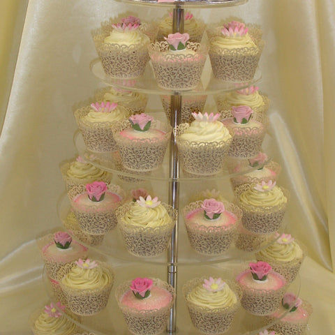 Tower Of Wedding Cupcakes 1