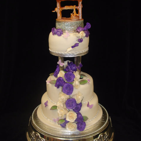 Wishing Well Wedding Cake