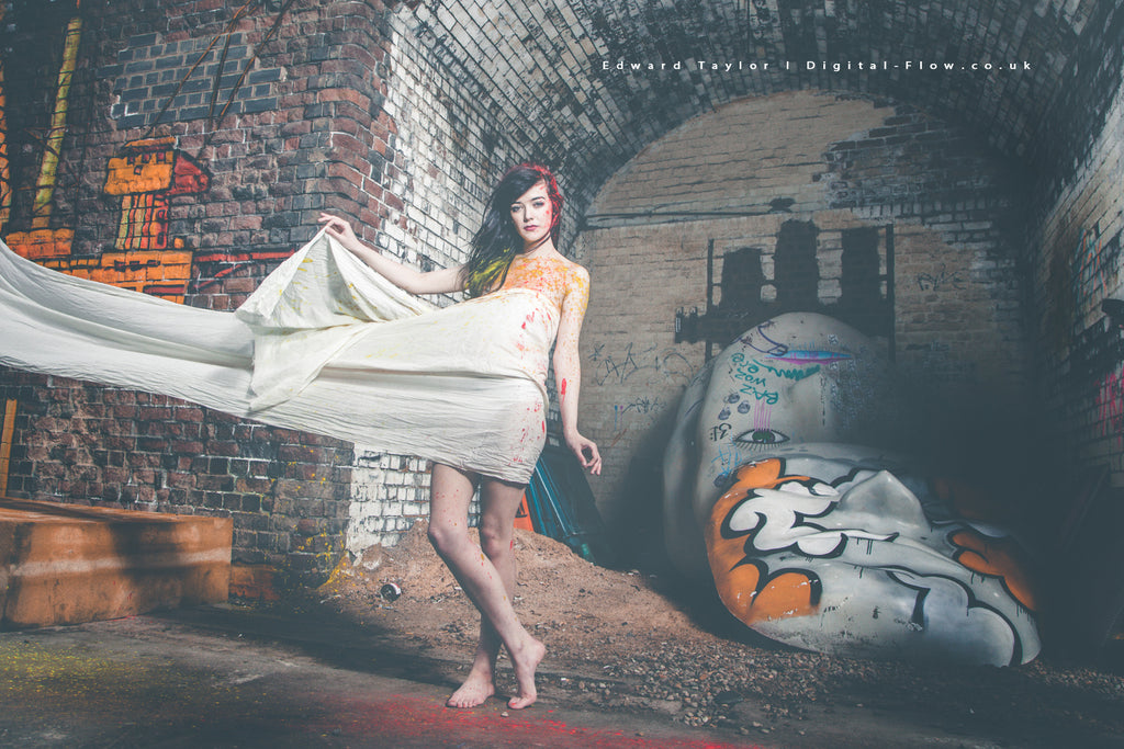 model fashion beauty girl against brick wall by Edward Taylor Photographer from digital flow ltd