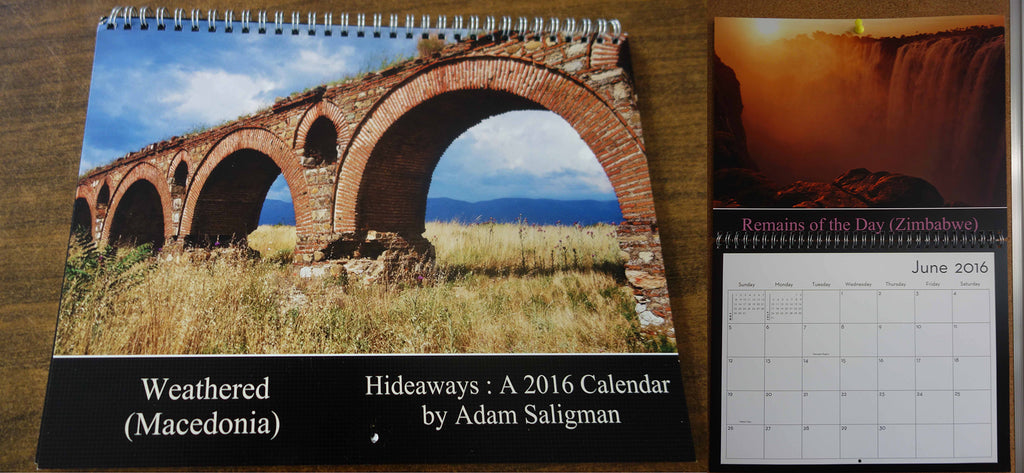 Adam Saligman Photography Calender