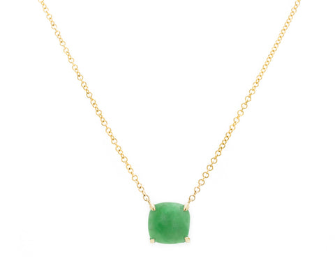 Green Jade Pendant Necklace in Yellow Gold | Modern Jade Designs by TRACE