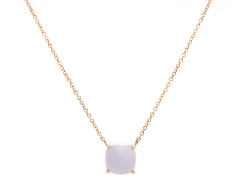 Light Purple Jade Pendant Necklace in Rose Gold | Modern Jade Designs by TRACE