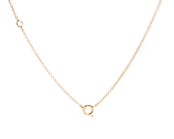 Adjustable necklace chain | 14k rose gold by TRACE jade jewelry