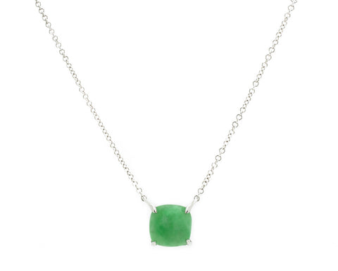 Green Jade Pendant Necklace in White Gold | Modern Jade Designs by TRACE