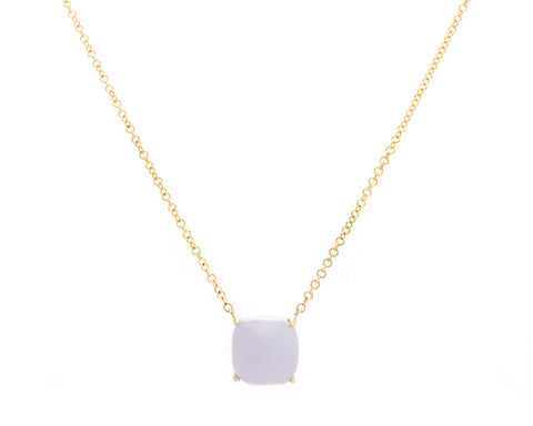 Light Purple Jade Pendant Necklace in Yellow Gold | Modern Jade Designs by TRACE