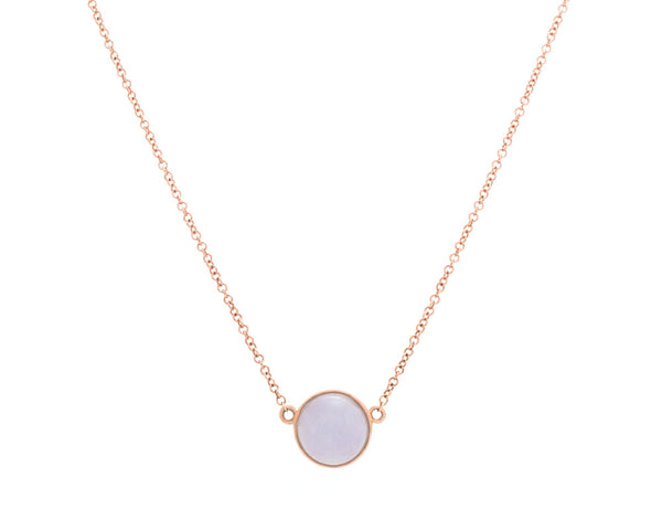 Eileen by TRACE jade jewelry | Purple jade pendant necklace in 14k rose gold