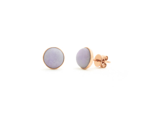 Nessa by TRACE jade jewelry | 14k rose gold jade stud earrings
