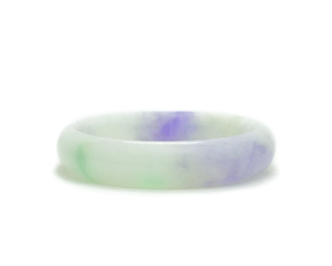 Jade Baby Bangle in Green and Purple Jade