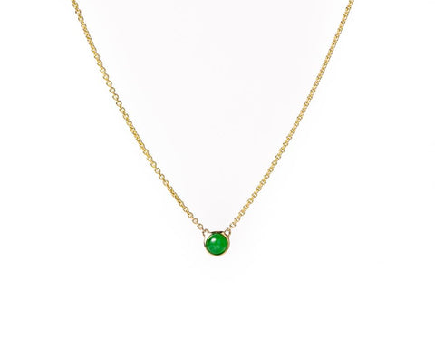 Yellow Gold Translucent Green Jade Necklace | Grade A Jadeite Necklaces | Jade jewelry by TRACE