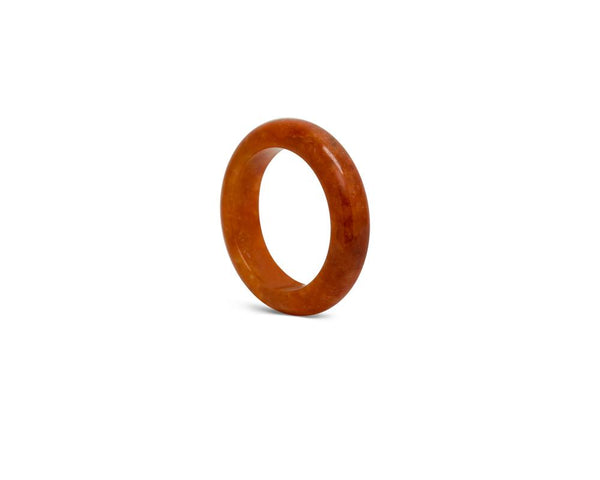 Orange Red Jade Stone Ring | Solid Grade A jadeite at tracejade.com