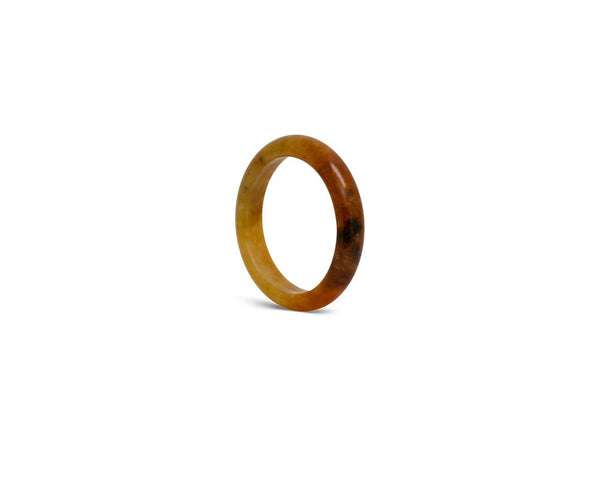 Caramel Brown Jade Ring | Modern jade designs at TRACE