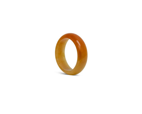 Yellow Orange Jade Ring | Solid Grade A jadeite at TRACE