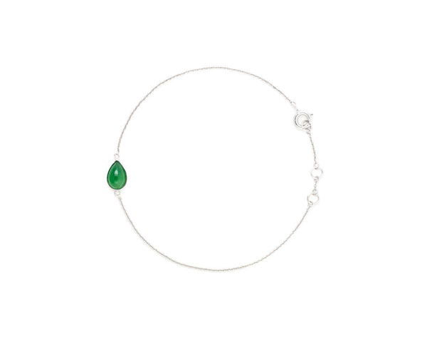 Pear Shaped Jade Bracelet | White Gold Bracelets