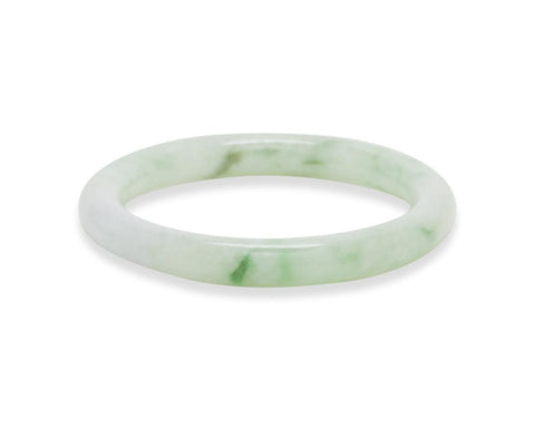 Light Green Jade Bangle | Natural genuine jade bangles at TRACE | Shop online at tracejade.com