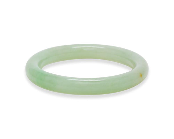 Green Jade Bangle | Grape green color translucent jade | tracejade.com