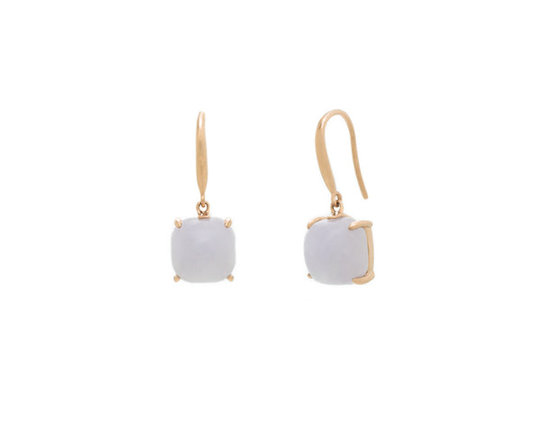 Light Purple Jade Dangle Earrings in Rose Gold | Modern Jade Designs by TRACE