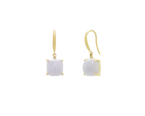 Light Purple Jade Dangle Earrings in Yellow Gold | Modern Jade Designs by TRACE