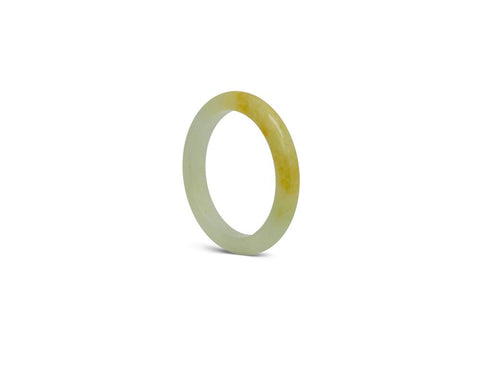 Yellow & Green Solid Jade Ring | Solid Grade A jadeite at TRACE