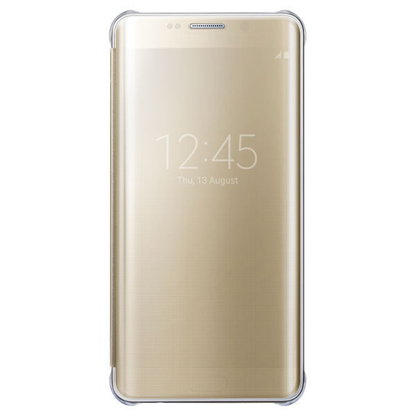 Samsung Clear View Cover pour Samsung Galaxy S6 Edge plus - Gold - Le13Bis.com