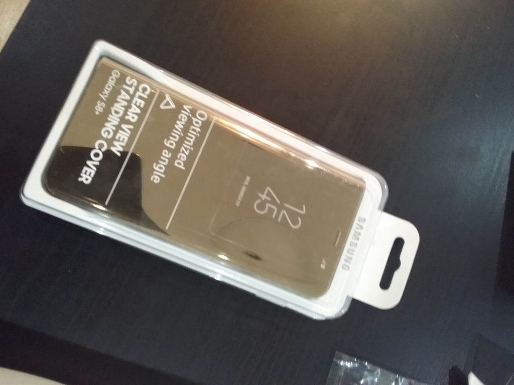 Samsung galaxy s8+ clear view gold
