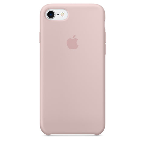 Coque en silicone iPhone 7 - Rose des sables