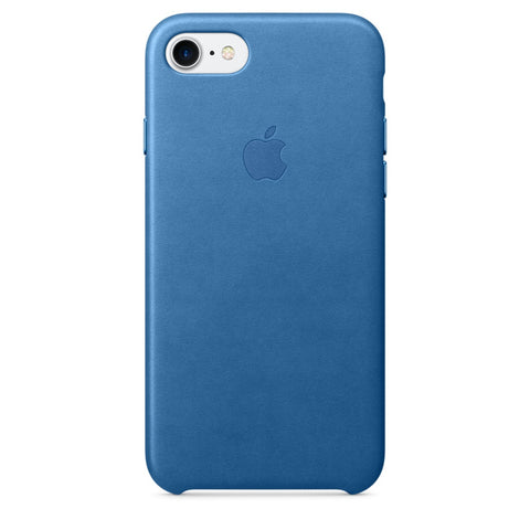 Coque d'origine Apple en cuir pour  iPhone 7  - Sea Blue