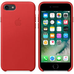 Coque d'origine Apple en cuir pour  iPhone 7  - Rouge - Le13Bis.com - 2