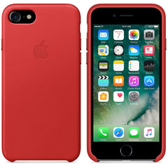 Coque d'origine Apple en cuir pour  iPhone 7  - Rouge - Le13Bis.com - 4