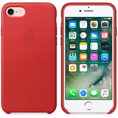 Coque d'origine Apple en cuir pour  iPhone 7  - Rouge - Le13Bis.com - 5
