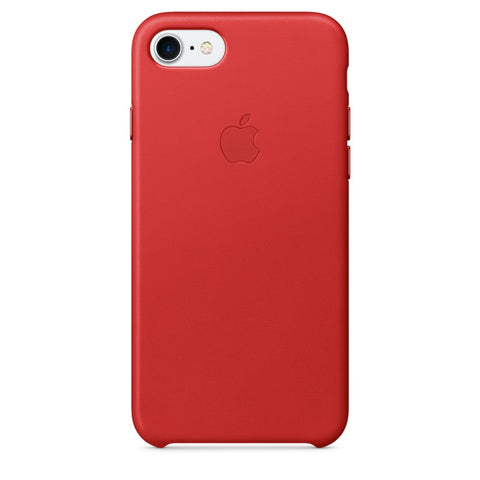 Coque d'origine Apple en cuir pour  iPhone 7  - Rouge