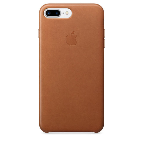 Coque d'origine Apple en cuir pour  iPhone 7 Plus - Havane