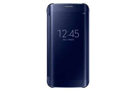 Samsung Clear View Cover pour Samsung Galaxy S6 Edge - Blue Black
