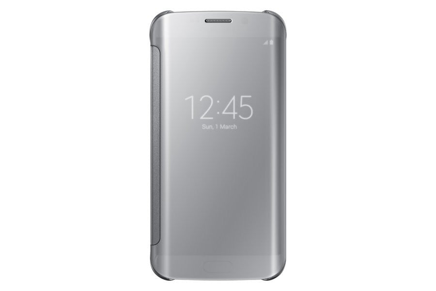 Samsung Clear View Cover pour Samsung Galaxy S6 Edge - Silver - Le13Bis.com - 1