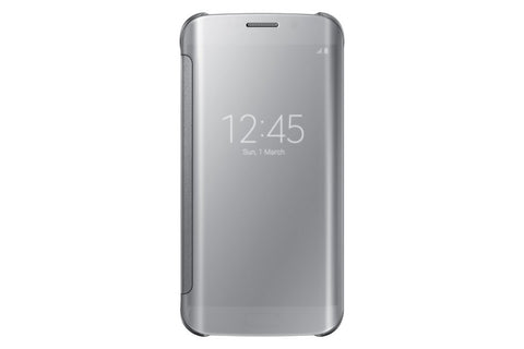 Samsung Clear View Cover pour Samsung Galaxy S6 Edge - Silver