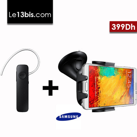 Pack voiture : Kit Navigation voiture universel + Bluetooth kit main libre  Samsung