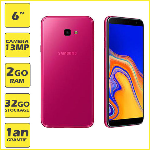 Galaxy J4+ 2018 (Dual Sim)  - Ecran 6'' plus  - Caméra 13MP - CPU Quad-Core - Rouge