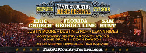 Taste Of Country Music Festival At Hunter Mountain In Hunter NY June, 9th And 10th 2018
