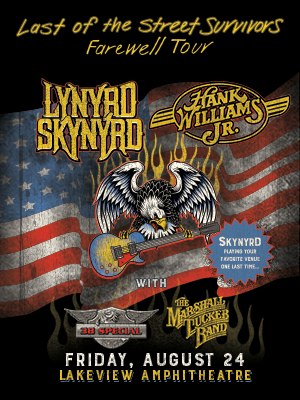 Lynard Skynard, Hank Williams JR, 38 Special, And The Marshall Tucker Band Live At The Lakeview Amphitheatre In Syracuse NY August, 24th 2018
