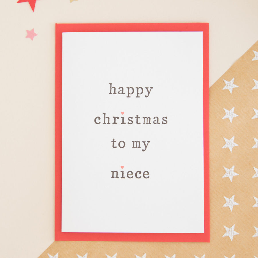 Happy Christmas to my Niece or Nephew Card Card - The Two Wagtails