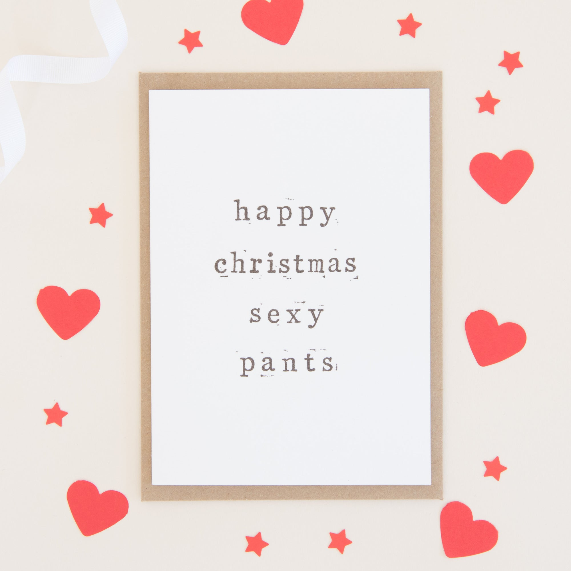 Happy Christmas Pants Card Card - The Two Wagtails