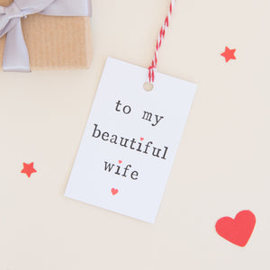 'To my husband or wife' Gift Tag Gift Tag - The Two Wagtails