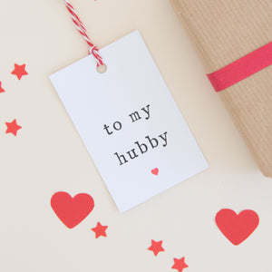 'To my wifey or hubby' Gift Tag Gift Tag - The Two Wagtails