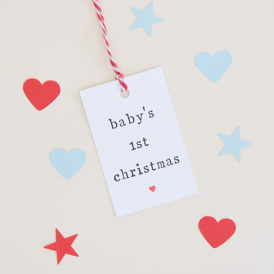 Baby's First Christmas Gift Tag Gift Tag - The Two Wagtails