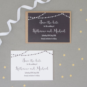 Fairy Light Wedding Invitation Set Invitations - The Two Wagtails